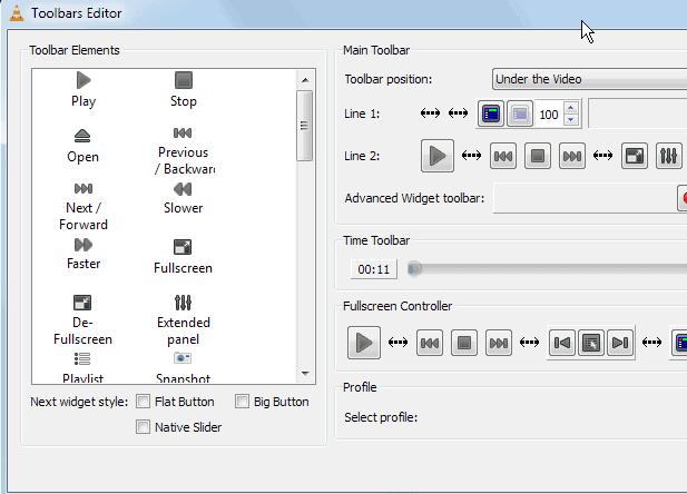 VLC customize interface