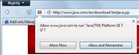 enable java