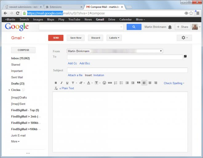 gmail old compose