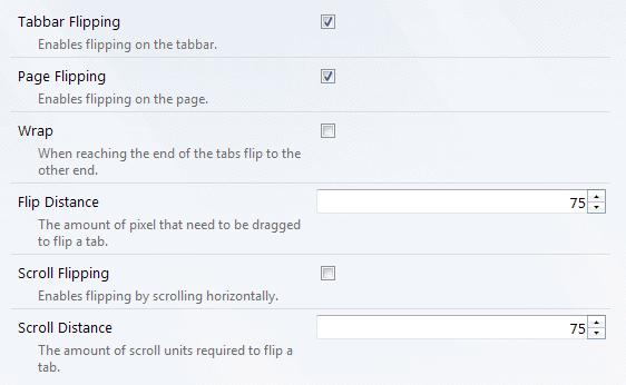 tab flip