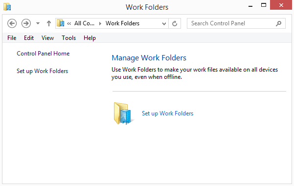 work folders windows 8.1