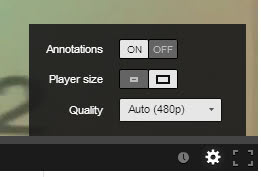 youtube annotation player size quality