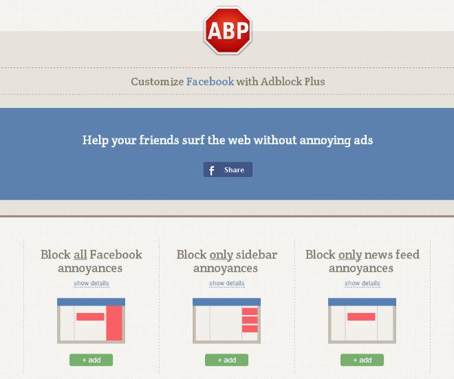 block annoyances facebook