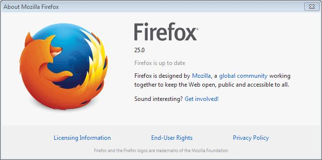 firefox 25 update