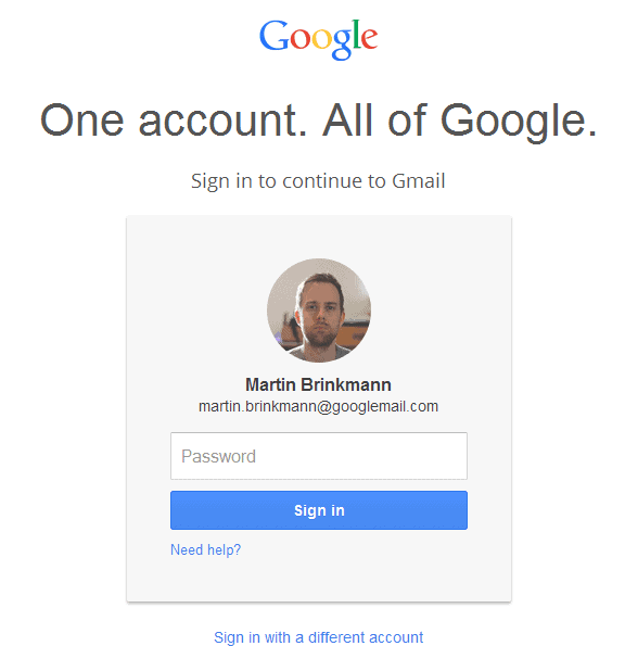 google gmail account sign-in