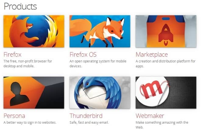 mozilla products