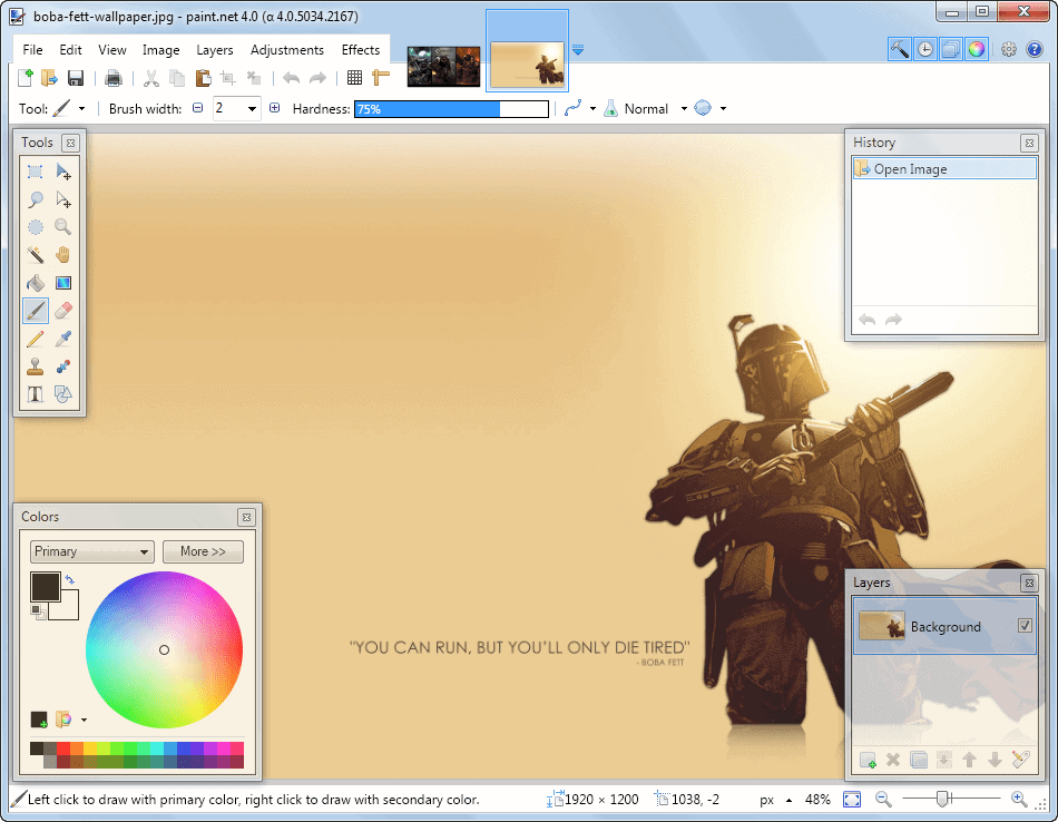 Free Image Editing Software Paint Net