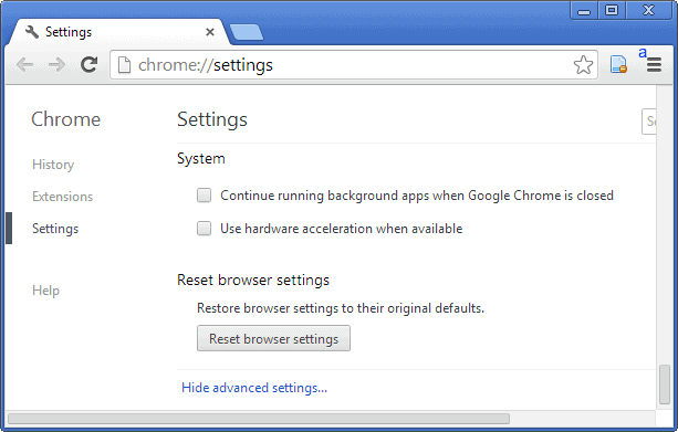 Chrome settings button not working - Vitamin shoppe promo codes