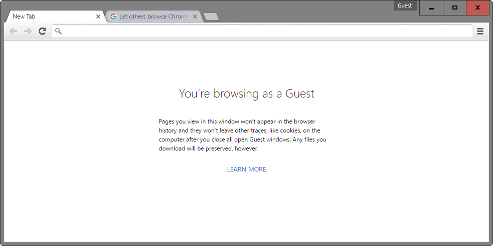 guest browsing chrome