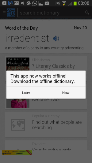 offline dictionary android