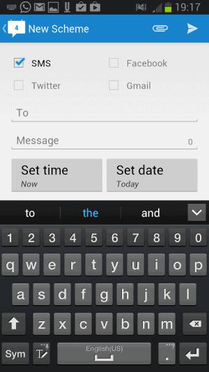 schedule sms schemes android