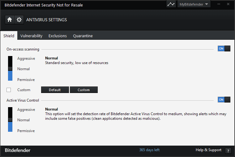 antivirus-settings