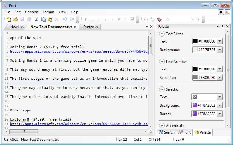 poet text editor windows