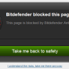 bitdefender blocked this page