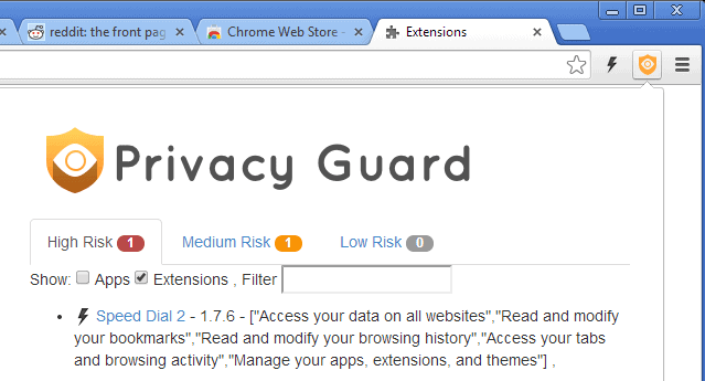chrome  privacy guard
