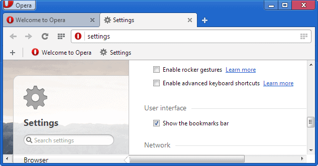 opera bookmarks toolbar