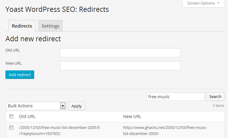 redirects yoast wordpress seo premium
