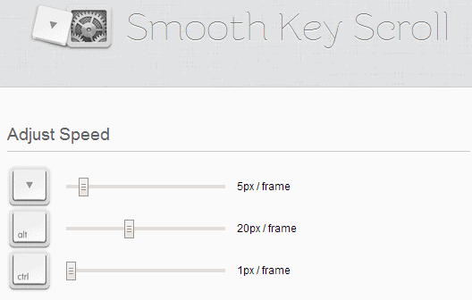 smooth key scroll