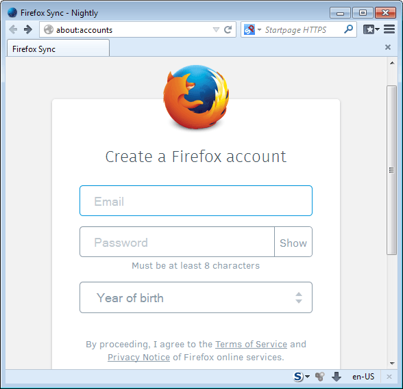 How to set up the new Firefox Sync in Firefox 29 - gHacks