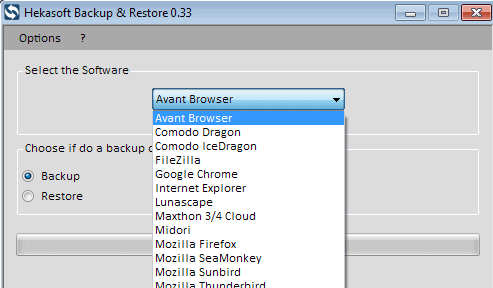 hekasoft backup restore web browser