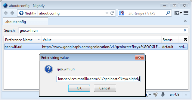 mozillas geolocation service