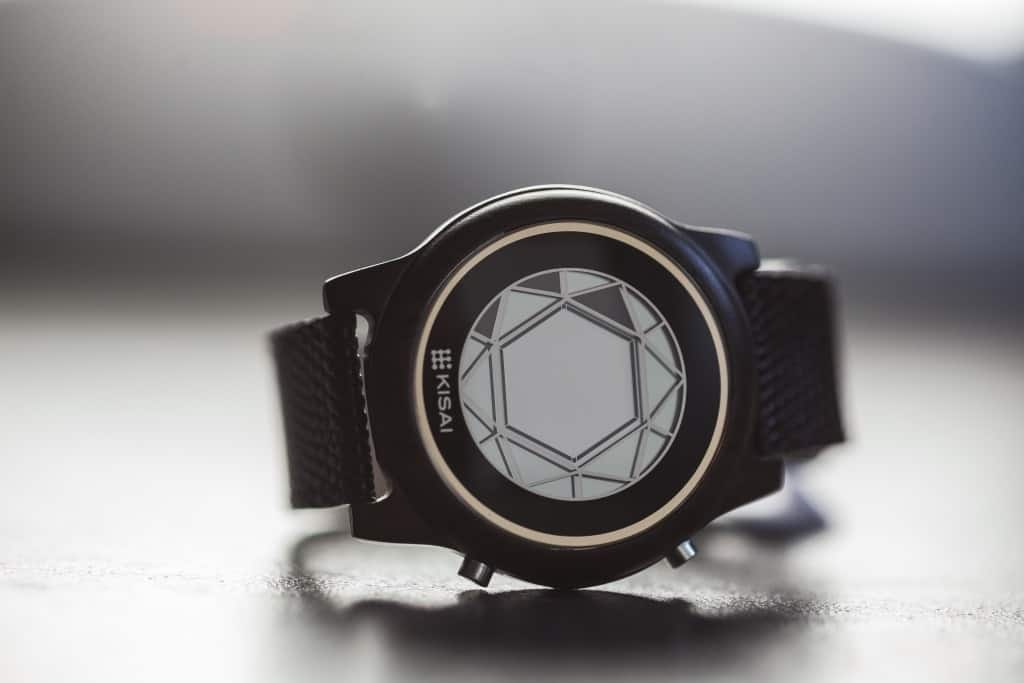 polygon wood lcd watch