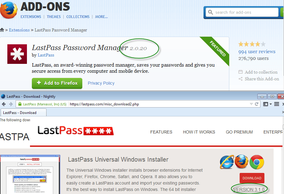 lastpass-firefox-version