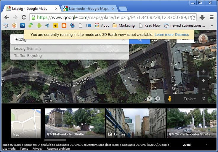 lite mode google maps