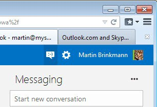 skype messaging outlook
