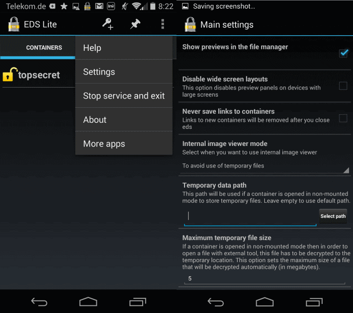 eds truecrypt on android