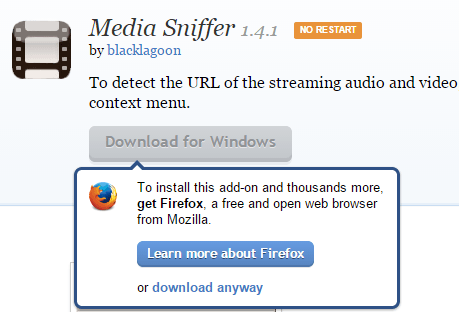 firefox addon download anyway