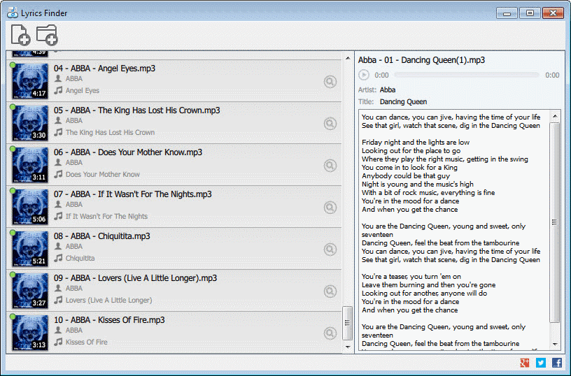 lyrics finder