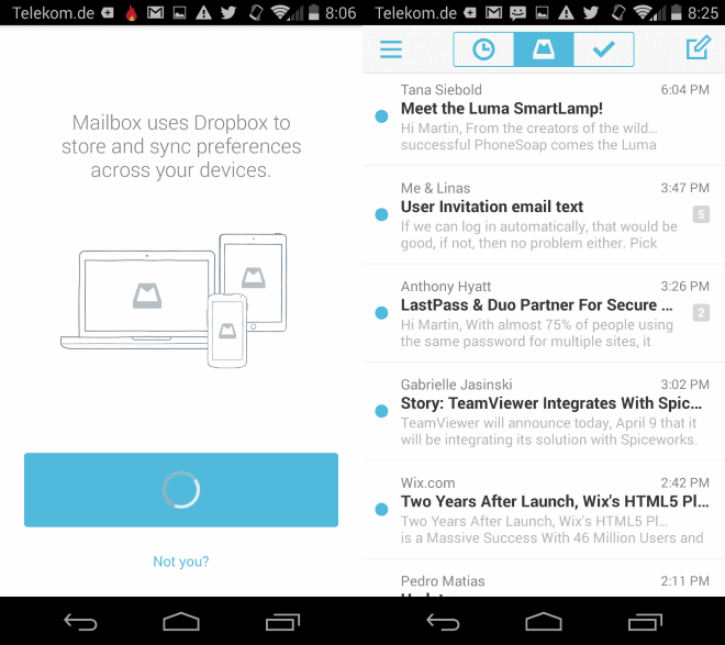 Mailbox email app for Android has been released
