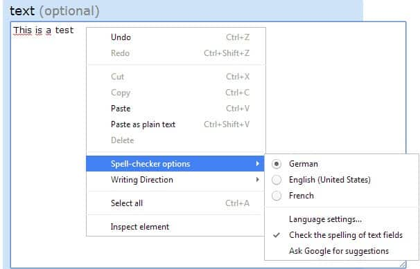 How to add language dictionaries to Google Chrome