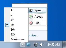 change optical drive speed