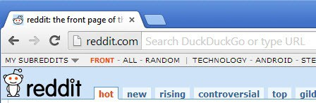 chrome address bar short
