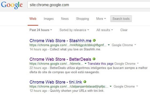 chrome web store recency