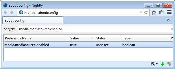 enable mse in firefox