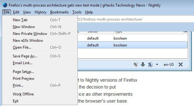 Firefox's Multi-process architecture becomes a priority finally