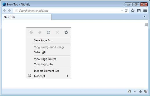 firefox new context menu