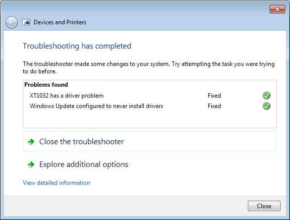 troubleshooting fixed