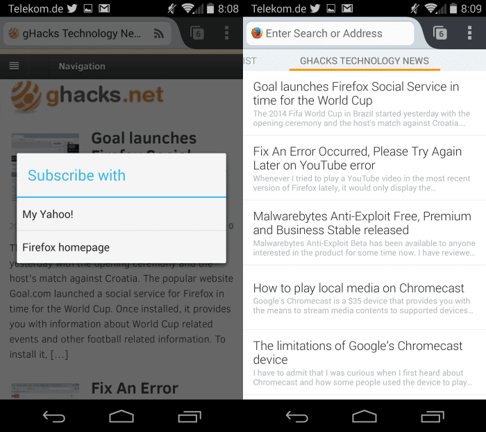 Here is what Firefox for Android's new Hub feature is all about