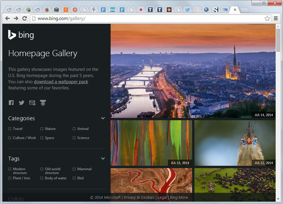 Browse And Download All Bing Homepage Wallpapers