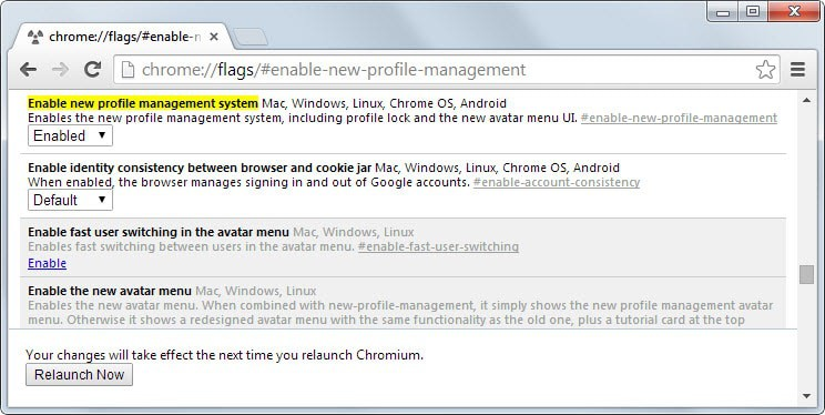 chrome profile management