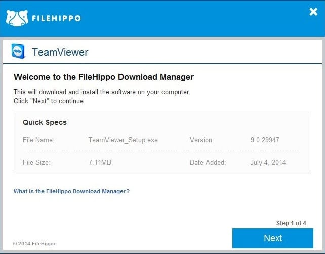 filehippo download manager-start