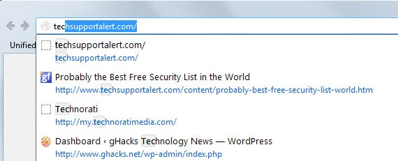 Mozilla improves address bar behavior in Firefox 34, may impact some add-ons