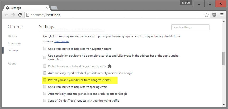 fix chrome s safe browsing feature blocking some downloads in the