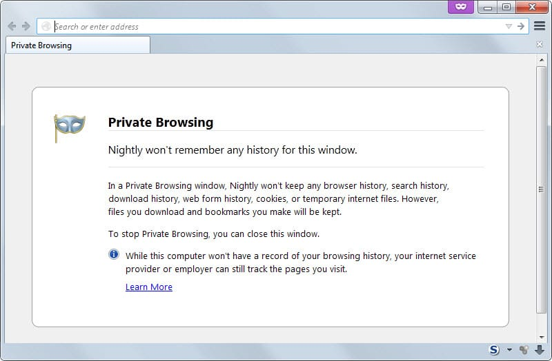 how to turn off private browsing mode