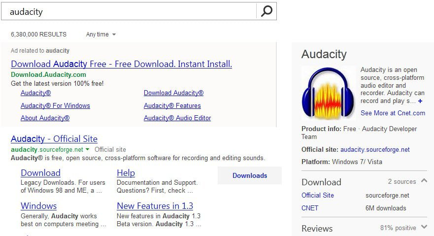 bing search download
