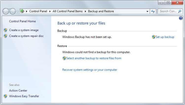 create system repair disc